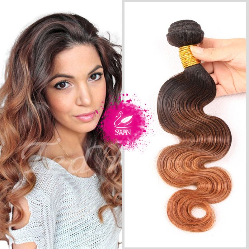 (Buy here: http://appdeal.ru/345g ) 9A Grade Ombre body wave Hair Peruvian Virgin Hair 1pc/Lot 100% Unprocessed Human Hair Extensions 1 pcs Natural Hair 1B/4/30 for just US $70.68