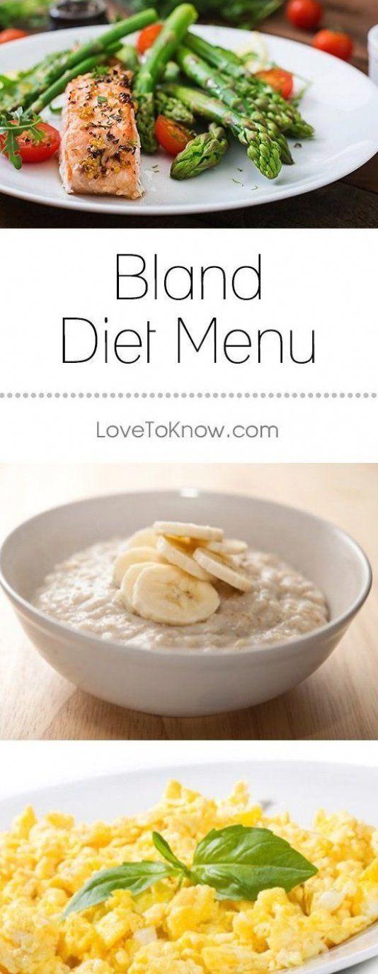 bland diet recipes vegetarian