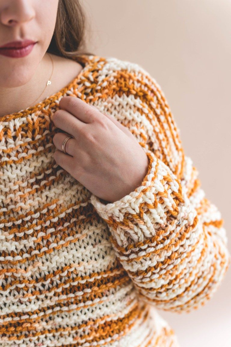 Hand Dyed Simple Knit Sweater • Sewrella | Simple sweater ...