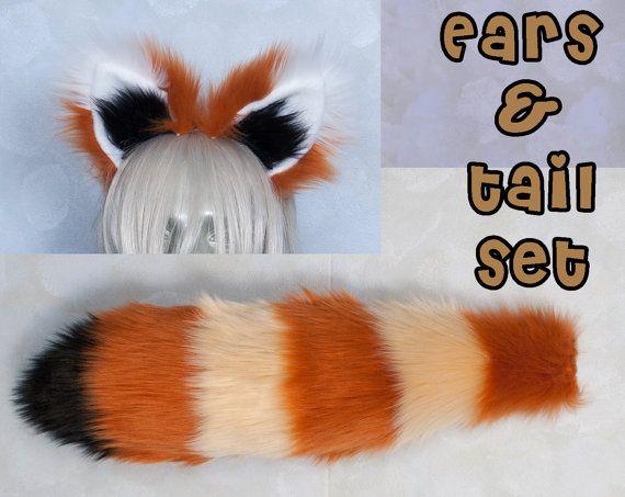 Animal Tail Animal Ears Red Panda Costume