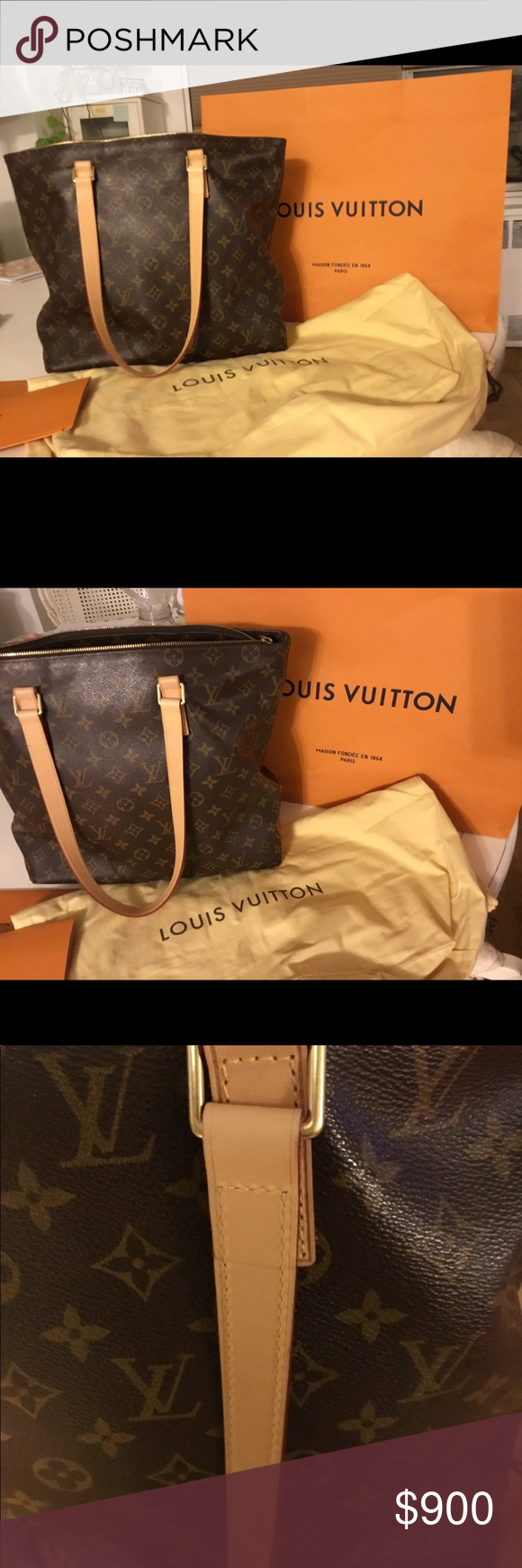 bb37a47afdcb Louis Vuitton large cabas piano tote This style is discontinued! Bottom  leather shows wear but