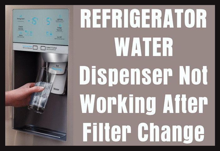 Refrigerator Water Dispenser Not Working After Filter Change Water Dispenser Refrigerator Kitchenaid Refrigerator