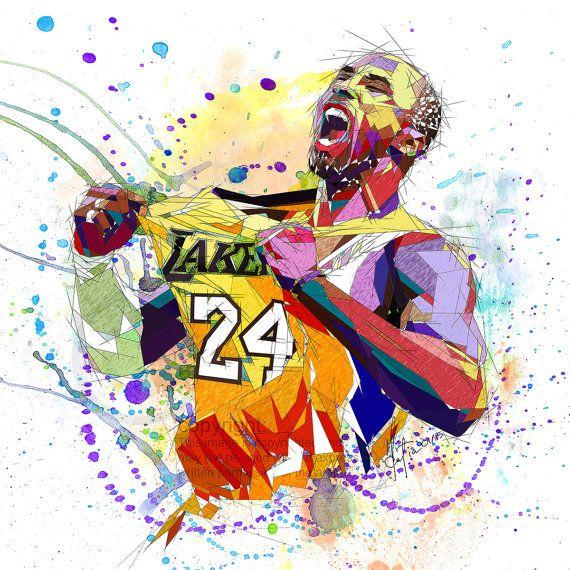 wholesale dealer 5ce17 78e70 CANVAS PRINT Kobe Bryant LA Lakers 24 Contemporary by KatiaSkye