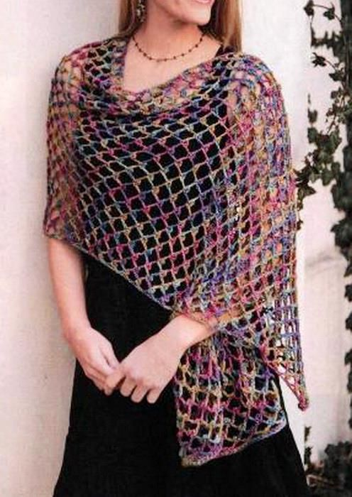Free Crochet Shawl Patterns For Beginners Crochet Clothes Shawls