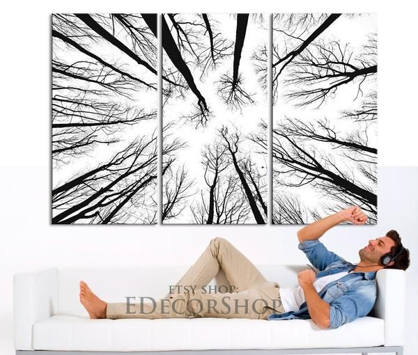 Dry Tree Branches Wall Art Canvas Print Forest Canvas Art Print Mc17 Tree Branch Wall Art Large Canvas Wall Art Forest Wall Art