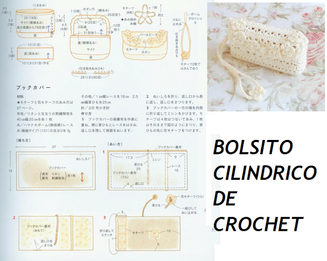 Patrones Crochet: Bolsito Neceser Cilindrico Patron