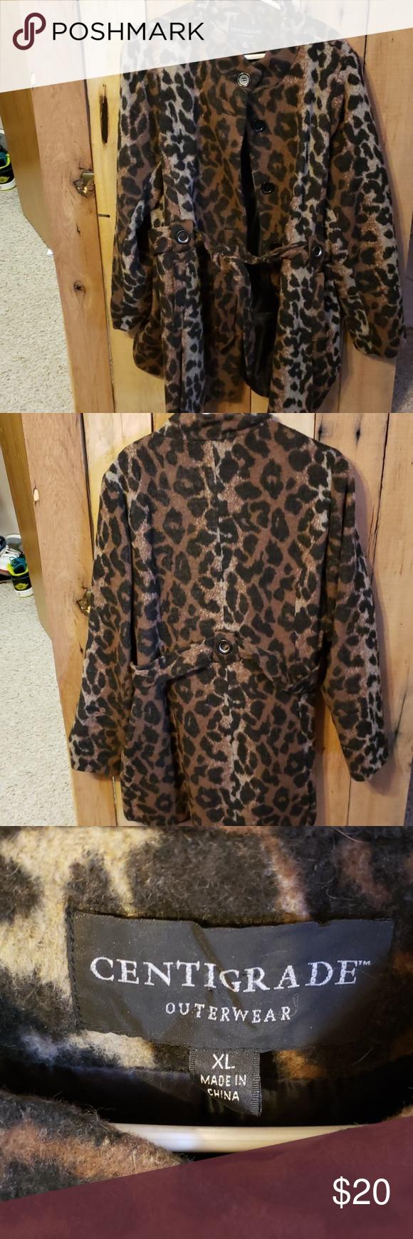 Centigrade Outerwear Coat Clothes Design Leopard Print Coat Outerwear Coats [ 1740 x 580 Pixel ]