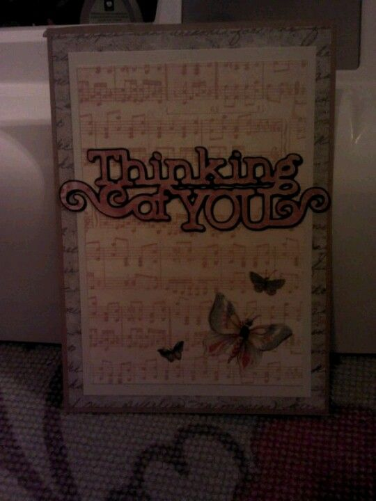 Thinking of you card! I just made :)