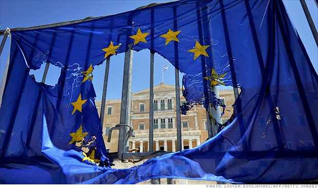Greek Government Rocked by Defection - CNN - Greece eu flag burned