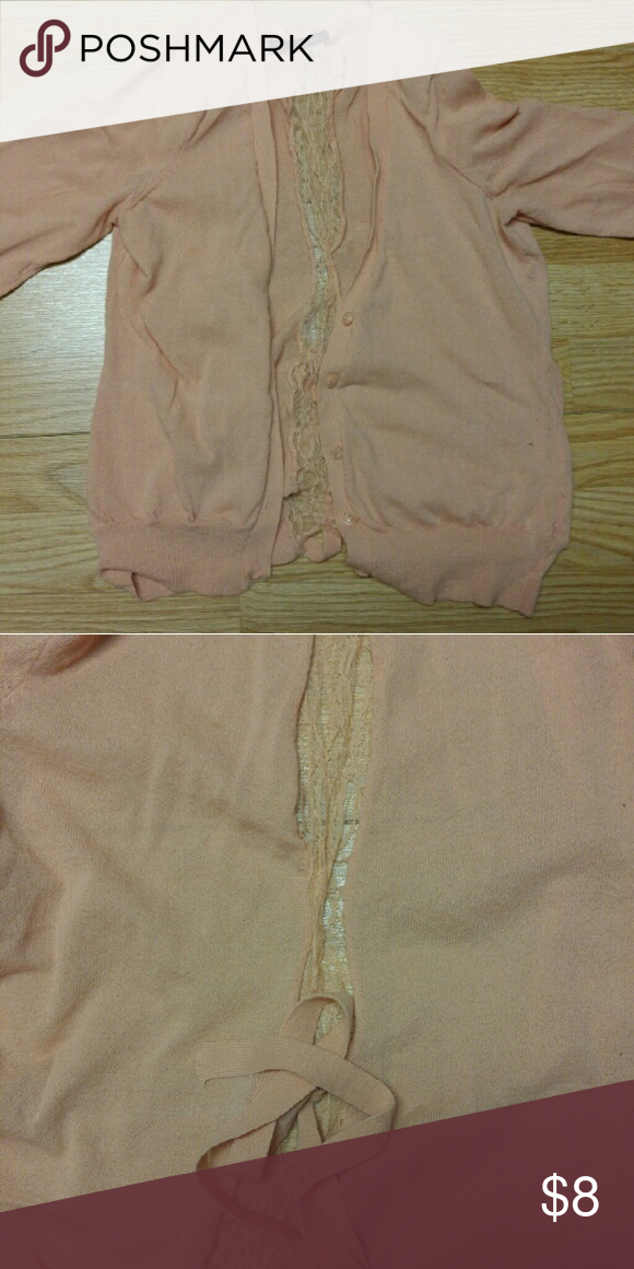 Maurice's size small Lace down the back. Peachy color. Maurices Sweaters Cardigans