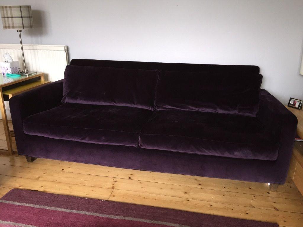 Habitat Chester Sofa Purple Velvet Google Search Purple Sofa Sofa Living Room