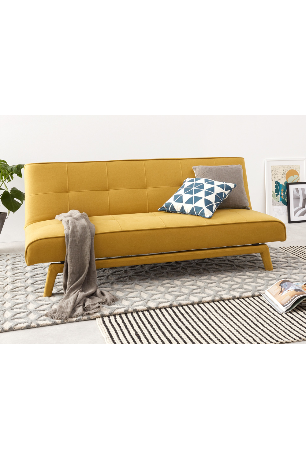 Yoko Schlafsofa Buttergelb Sofa Yellow Sofa Sofa Bed