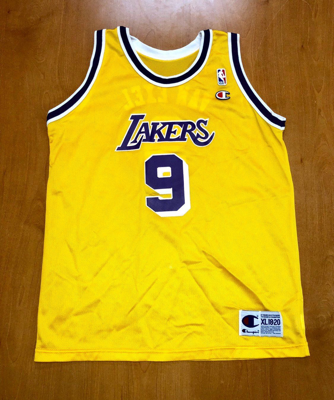 Vintage 1995 1998 Nick Van Exel Los Angeles Lakers Champion Jersey Size Youth Extra Large Shaquille O Neal Magi Nick Van Exel La Lakers Jersey Champion Shirt