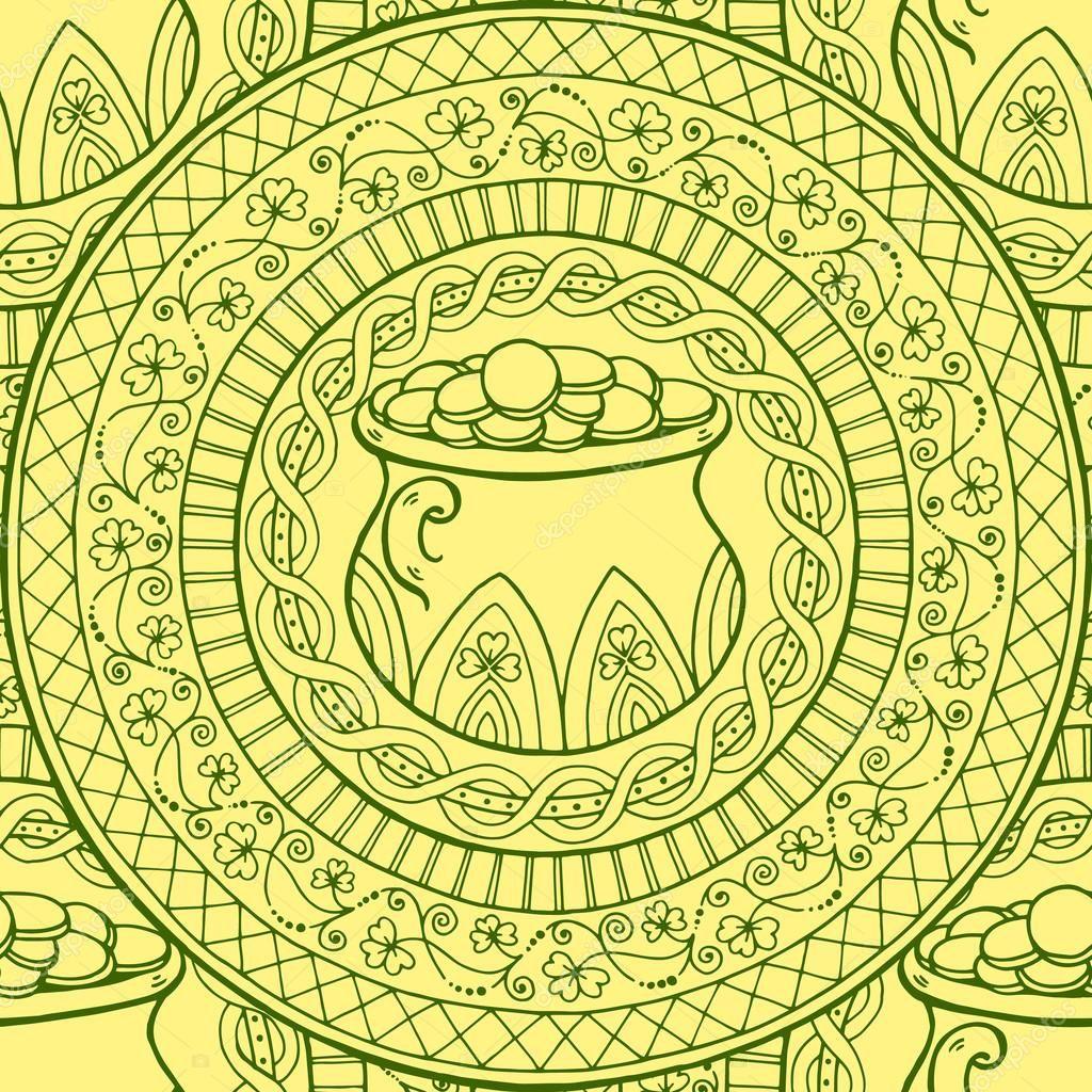 Único Nudos Irlandeses Para Colorear Patrón - Dibujos Para Colorear ...