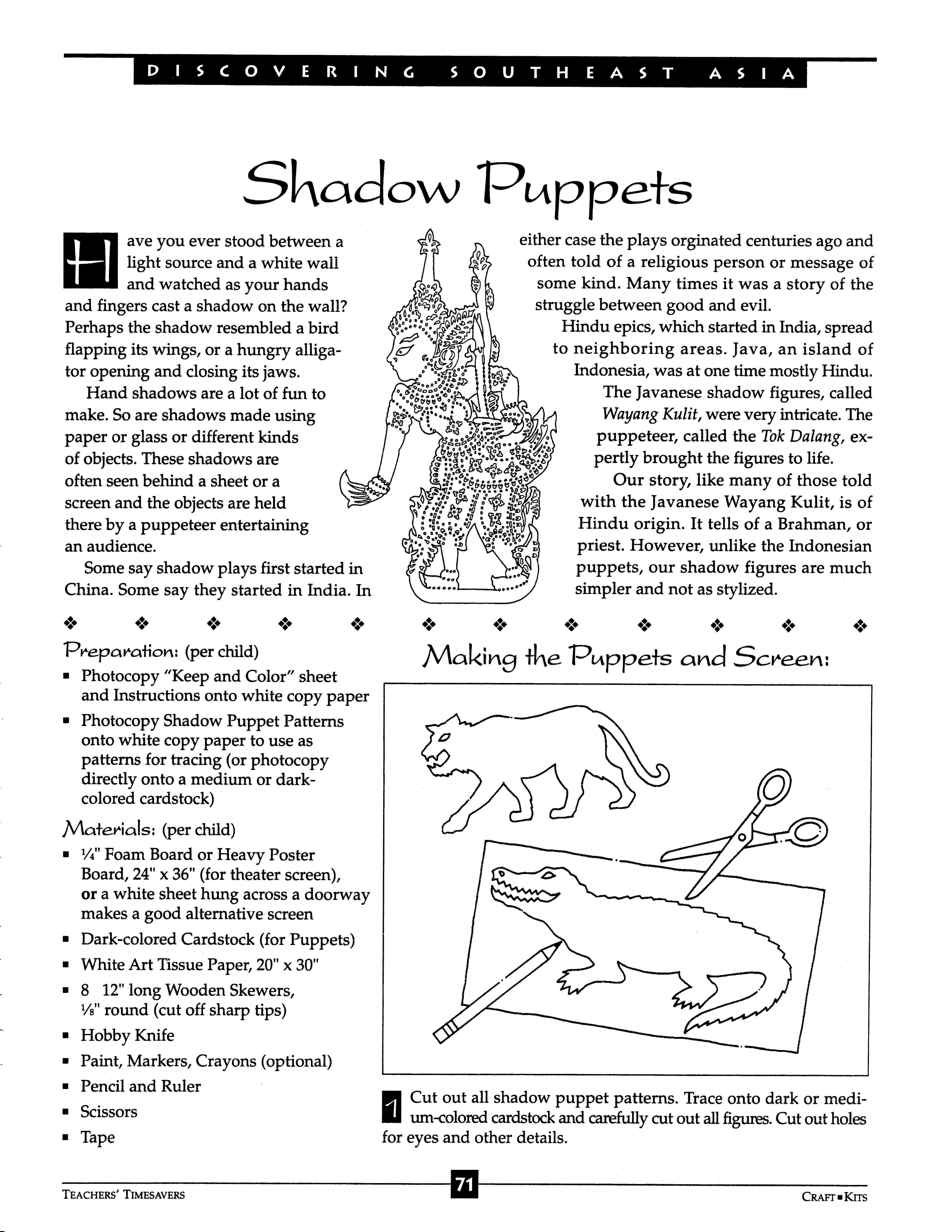 Shadow Puppets 1 Of 7 With Images