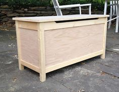 DIY Toy Box w/ Safety lid. I would paint the trim white and the & DIY Toy Box w/ Safety lid. I would paint the trim white and the ... Aboutintivar.Com