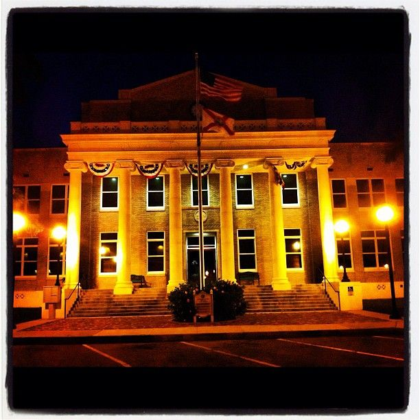 Historic Punta Gorda, Florida, Court House By Night