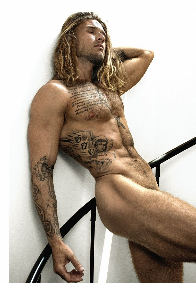 Tattooed Guy Playing With His Penis