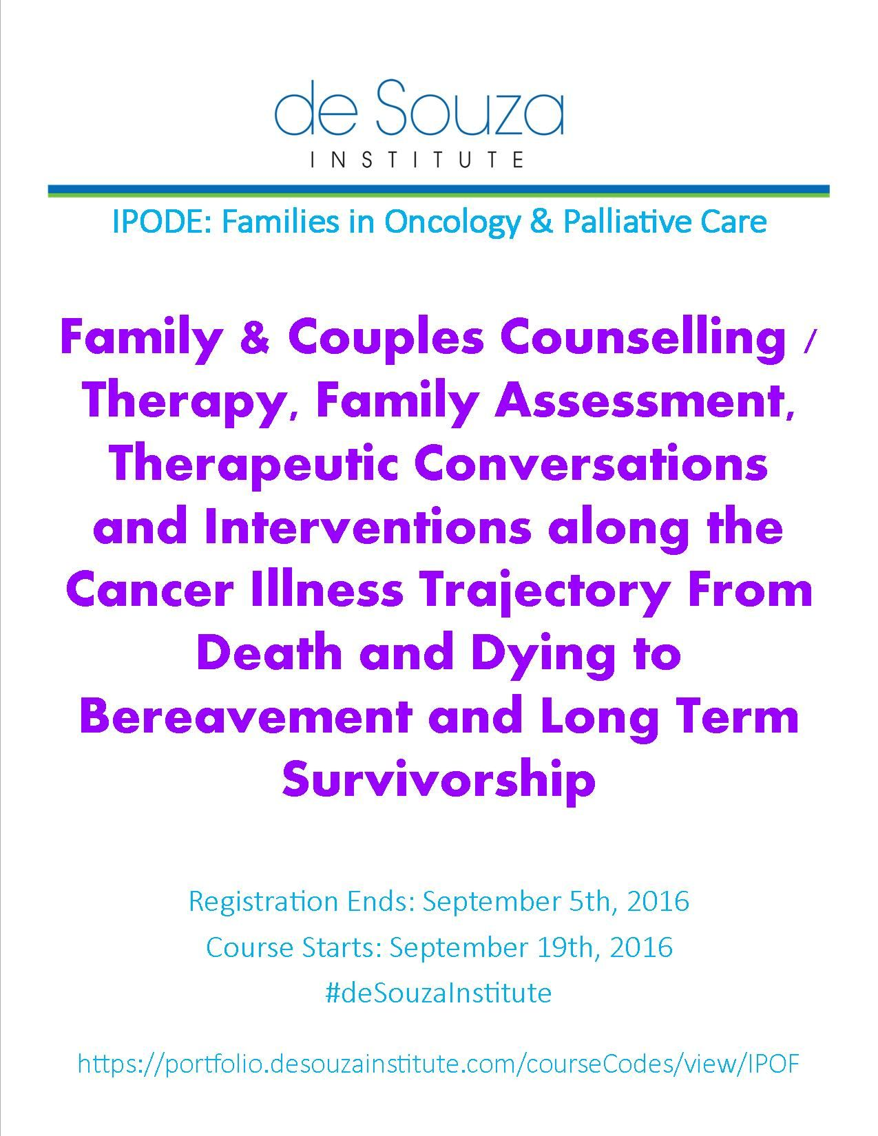 Our IPODE with Families in Oncology & Palliative