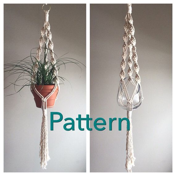 Lyric Single Macrame Pattern Beginner Pdf Diy Hanger Single