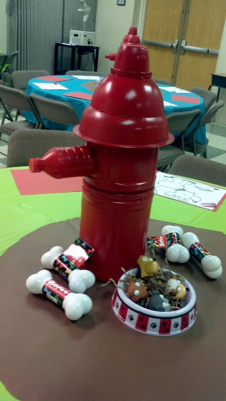 Homemade Fire Hydrant Decoration Dog Kennel Dog