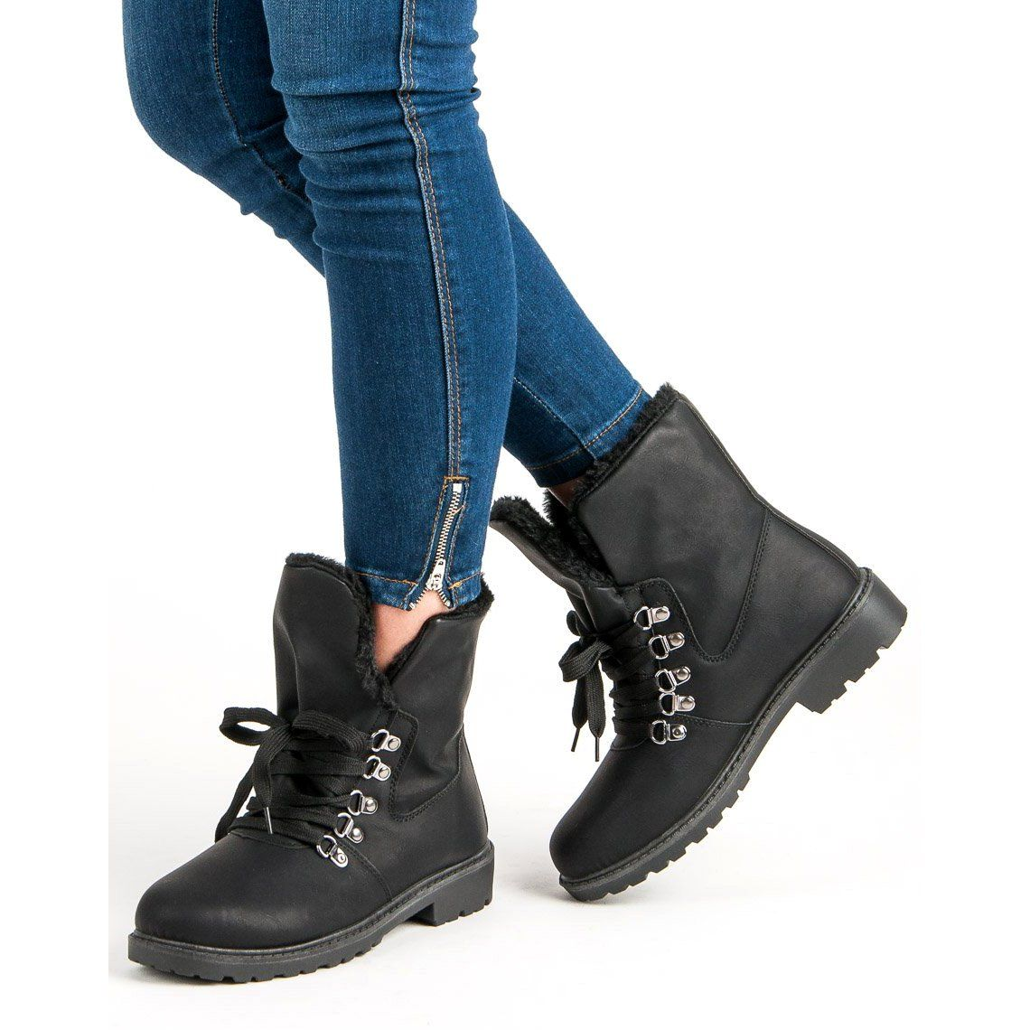 Super Me Ocieplane Botki Czarne Timberland Boots Boots Shoes