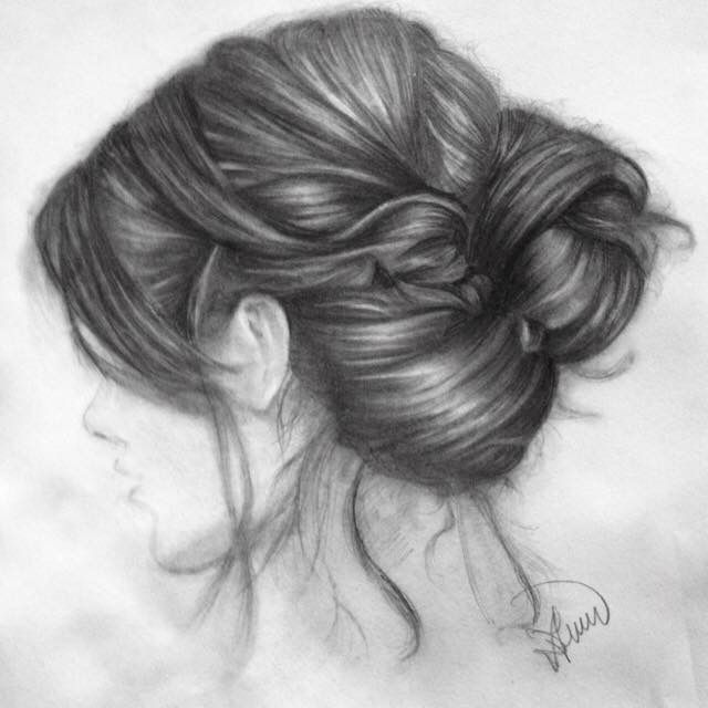 'Hair study' Pencilwork on A3 paper