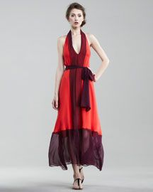 Haute Hippie presents a flirty way to play with colorblocking... you may want to give it a drift.