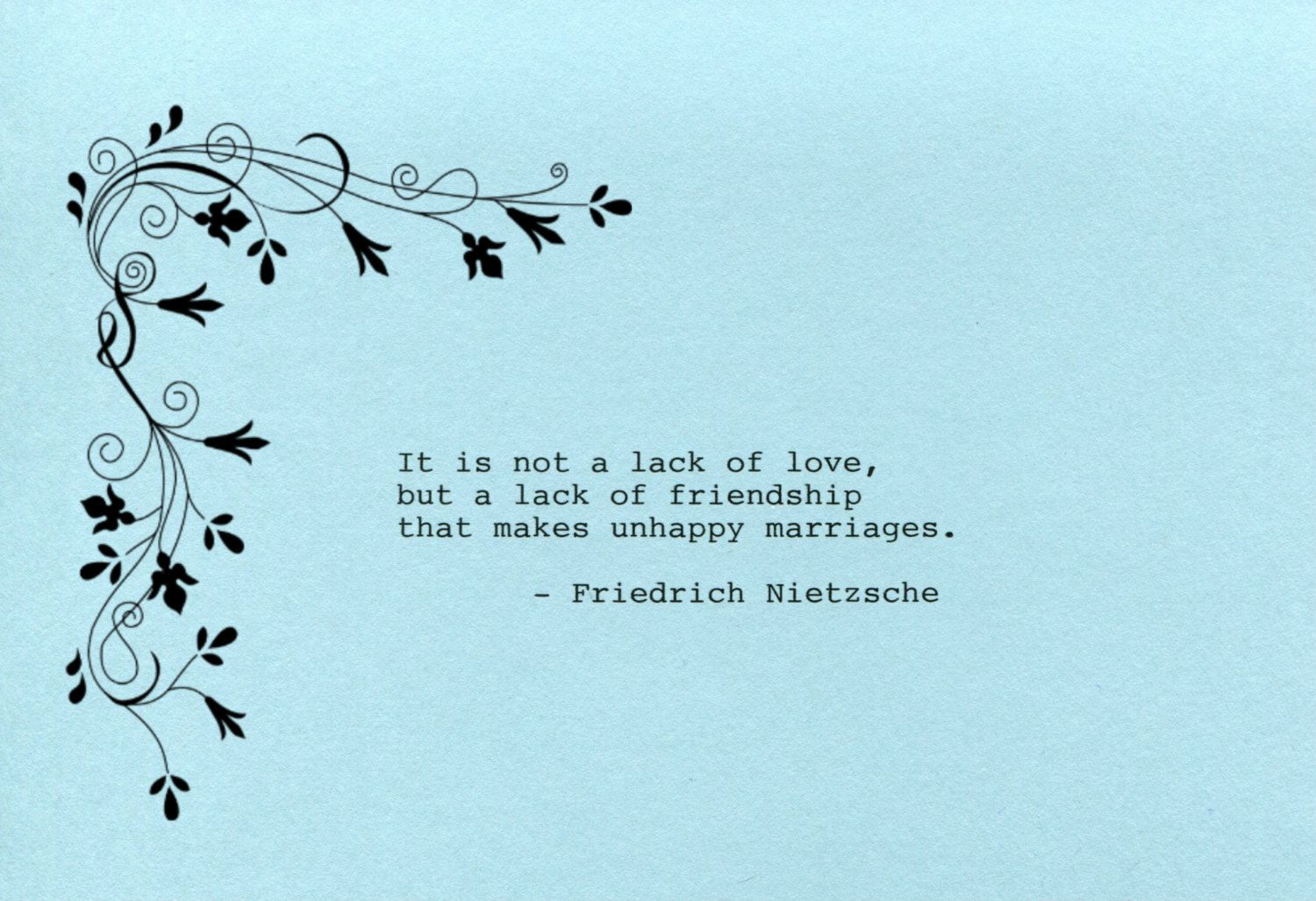 Friedrich Nietzsche Quote Made On Typewriter Art Quote Wall Art It