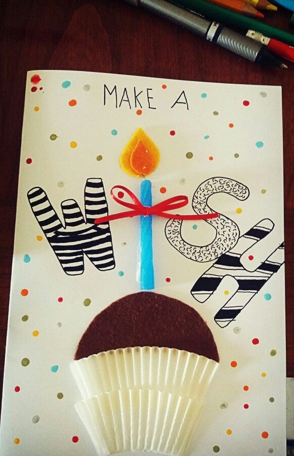 This is a lovely idea for birthday cards♡