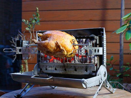 Meet the Roasterette: a portable BBQ that lets you prepare