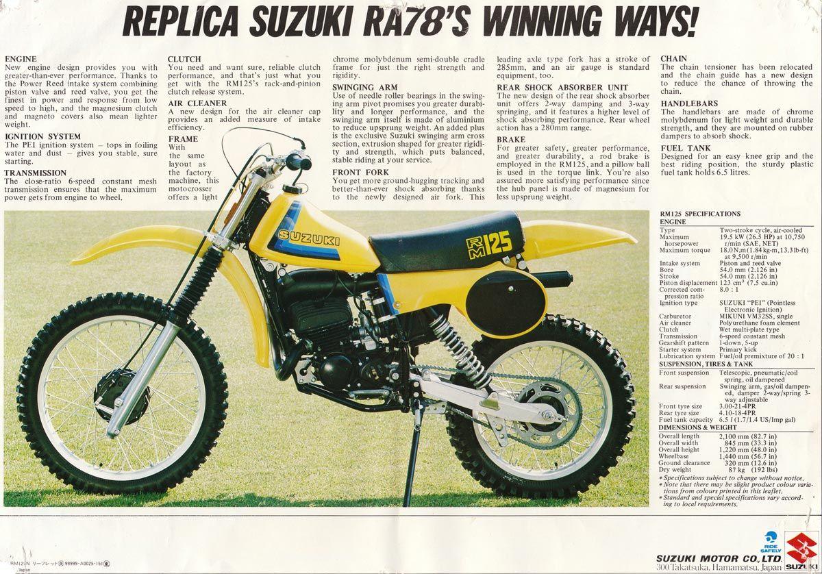 1979 suzuki rm125n ad