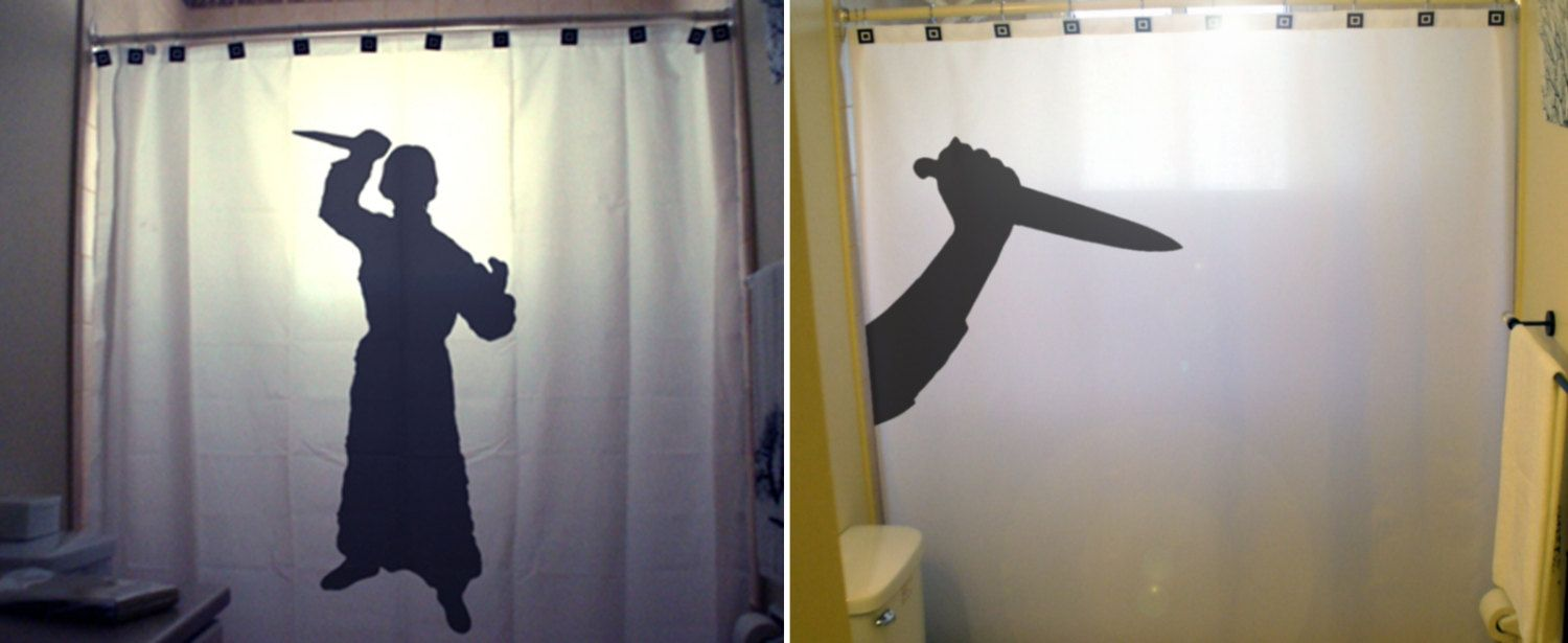 Train Themed With Images Psycho Shower Curtain Halloween