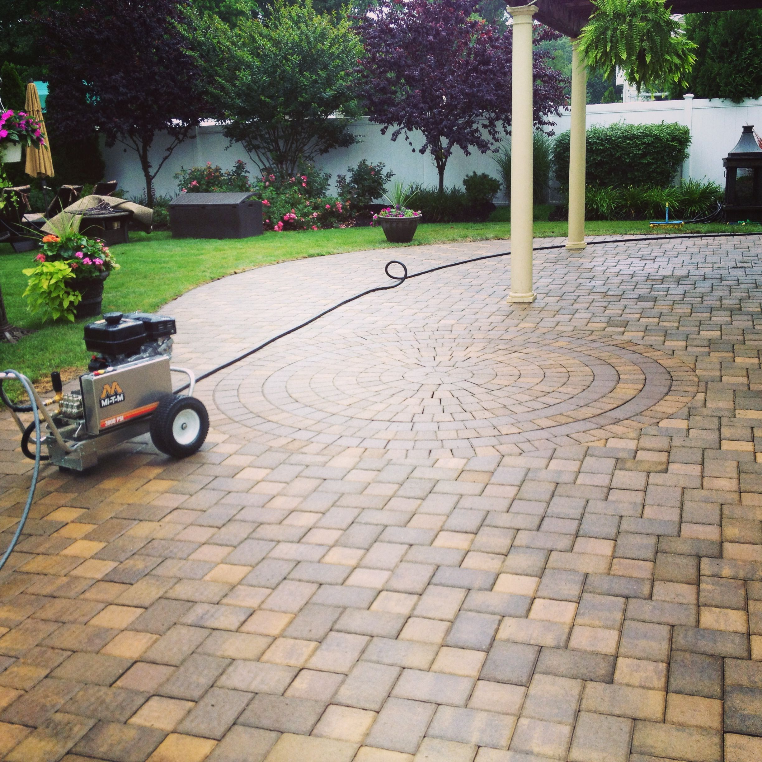 Long Island Paver Sealing Cambridge Paver Patio  Www.stonecreationsoflongisland.net #paversealing