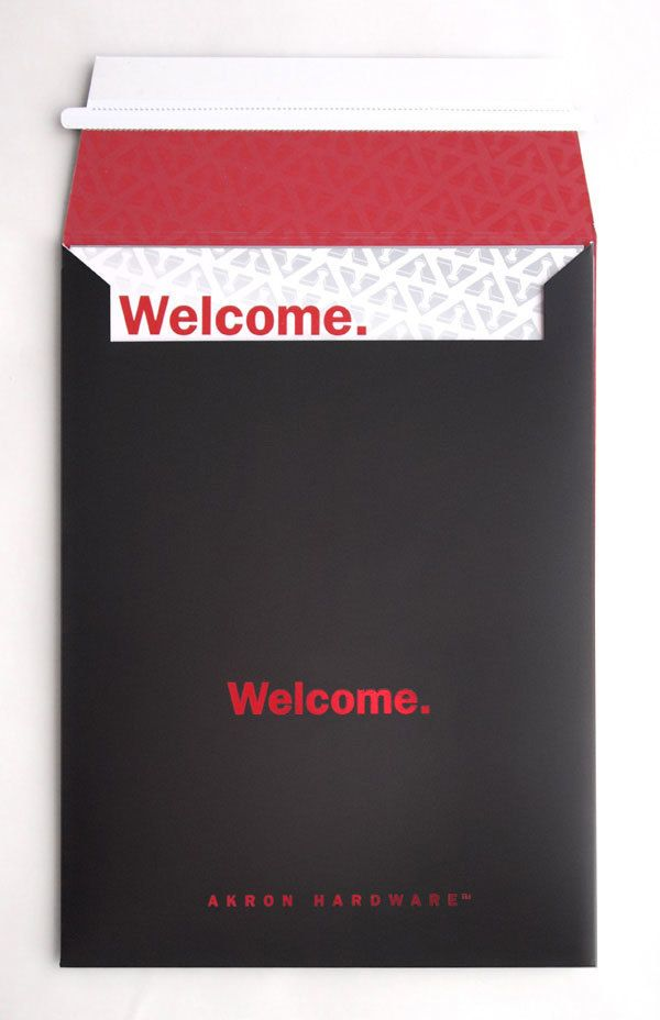 akron hardware. akron hardware new customer welcome pack on behance