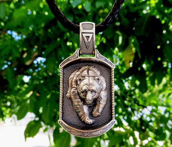 Veles amulet Slavic pendant Silver pendant Hadmade pendant Viking
