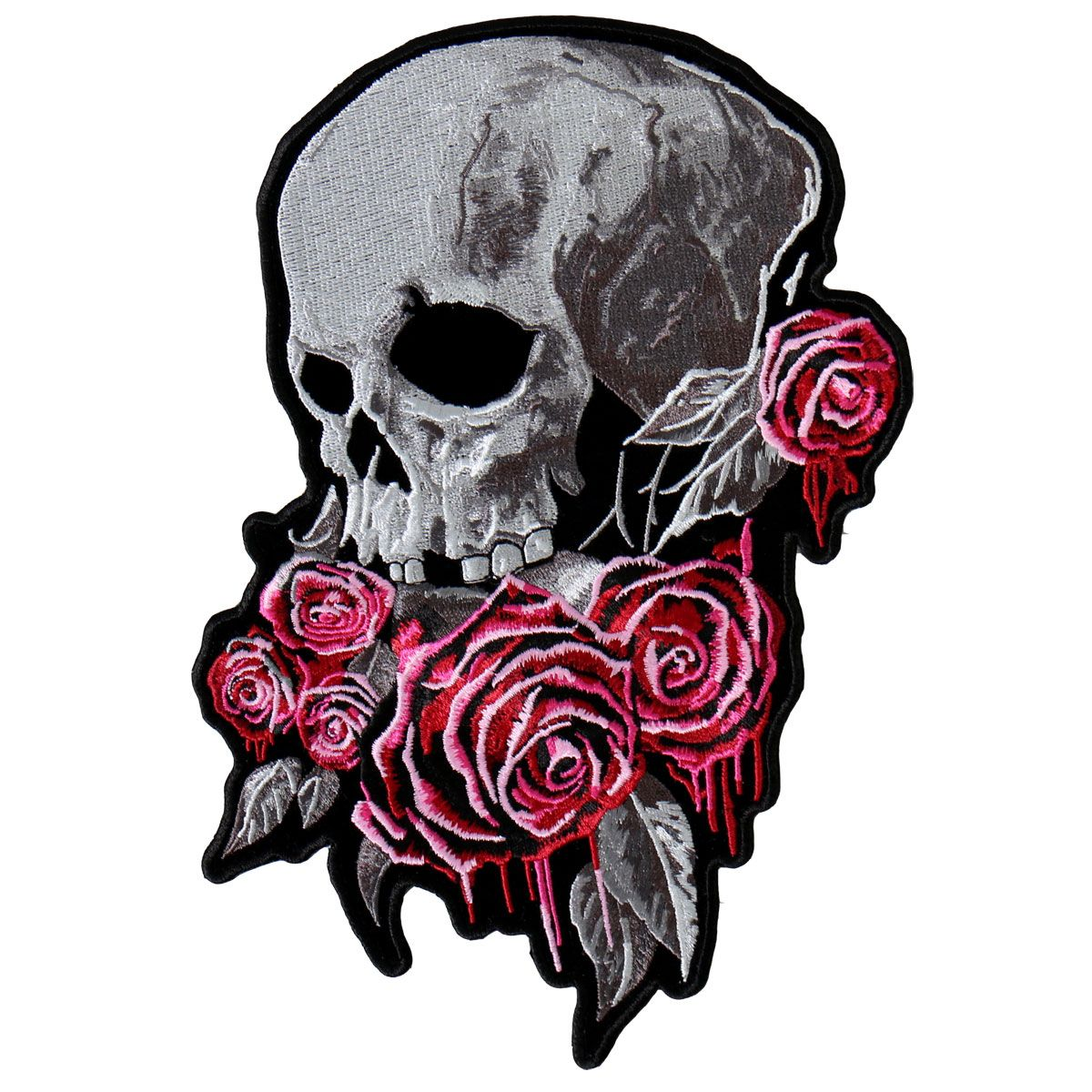 Hot+Leathers+Bleeding+Roses+Patch Vest patches, Rose