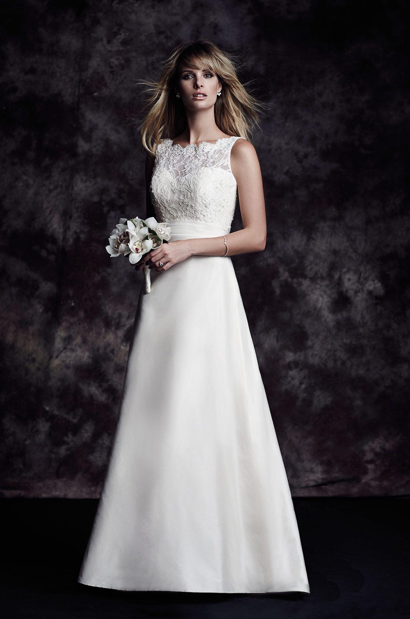 silk skirt wedding dress style 4617 paloma blanca beaded