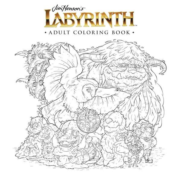 Jim Hensons Labyrinth Adult Coloring Book