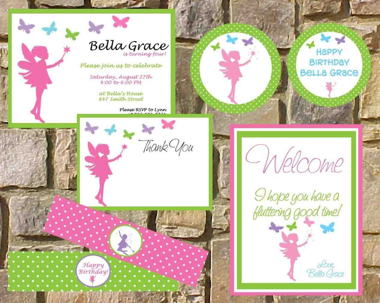Tinkerbell Pixie Hollow Invitations Door Sign Banner Table Center