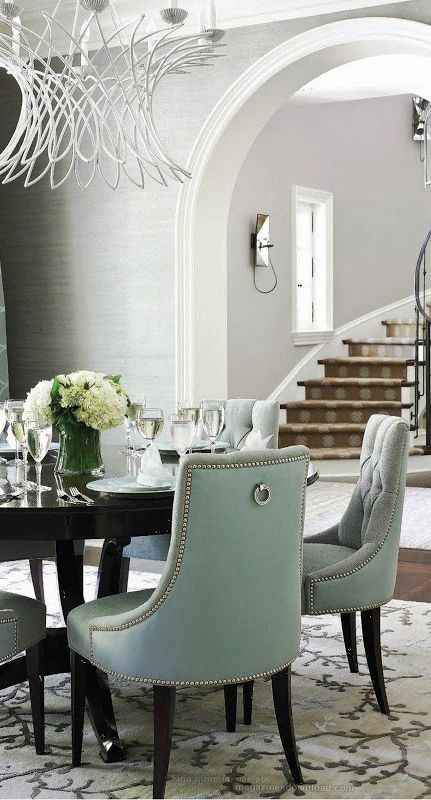 Gorgeous Interiors White Dining Room Grey Dining Room Modern