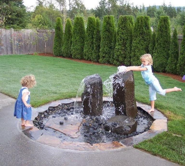 Outdoor Water Fountains Ideas Best For Garden Landscaping Trenzdecor Taman Alami Air Mancur Rumah Indah