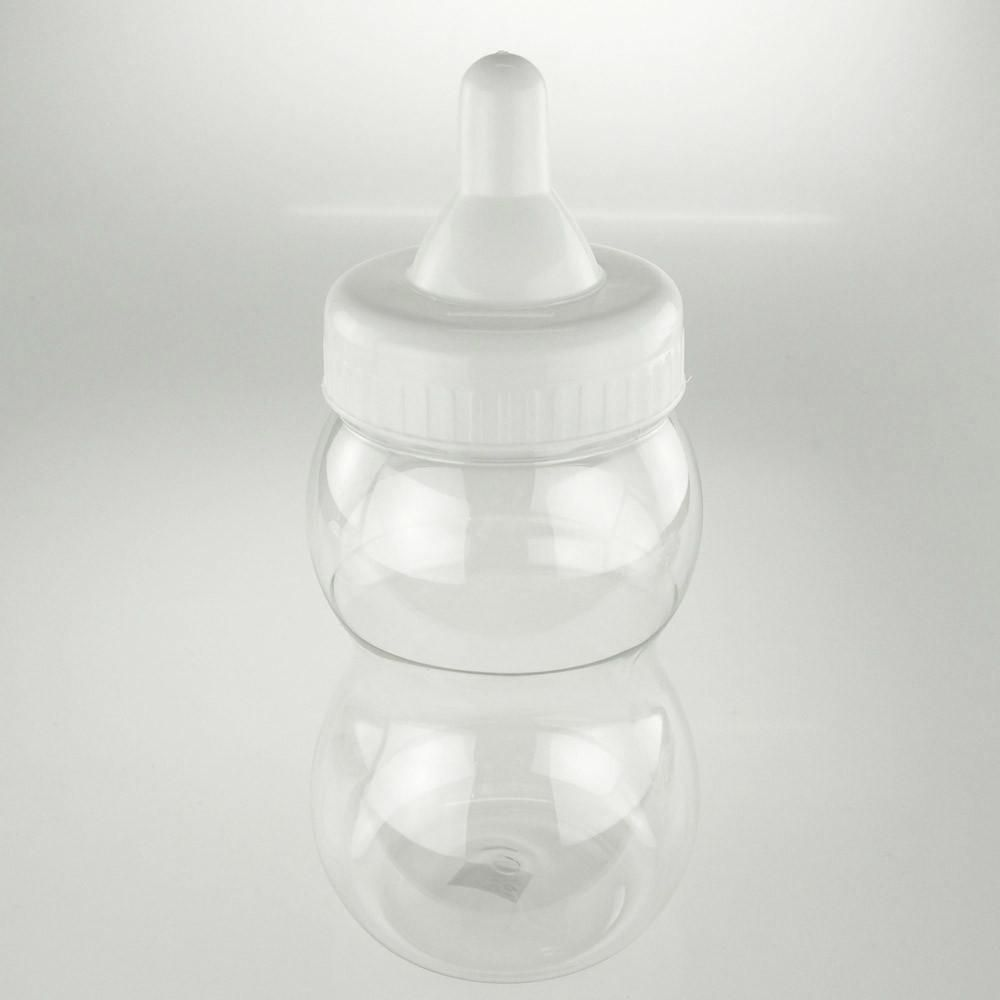 Large Baby Bottle Decoration Large Plastic Baby Milk Bottle Coin Bank 13Inch White  Baby