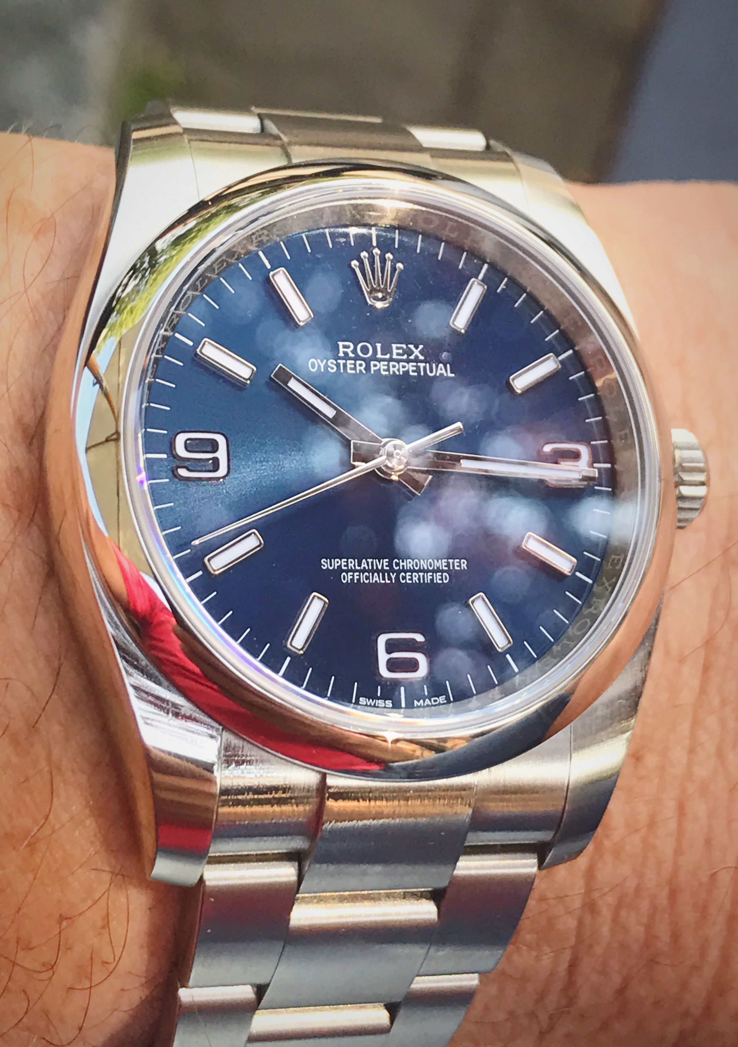 fa3c72755ca Rolex Oyster Perpetual 116000 36mm blue dial | Wrist watches that I ...