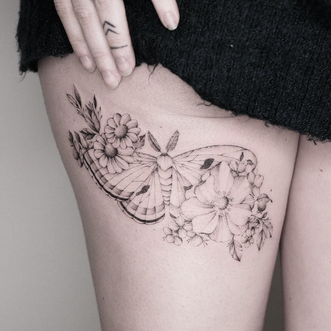 tatuagem delicada feminina coxa natashapanattoni