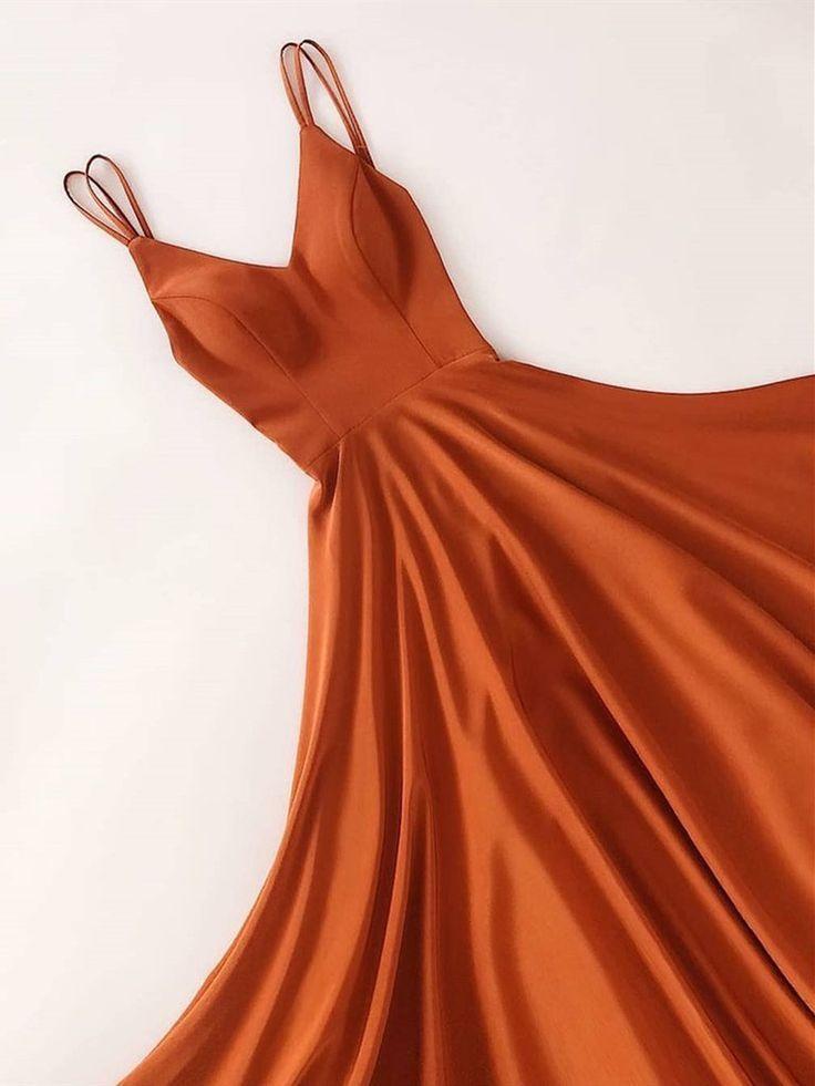 Custom Made V Neck Floor Length Long Prom Dresses, V Neck Graduation Dresses, Formal Dresses,...