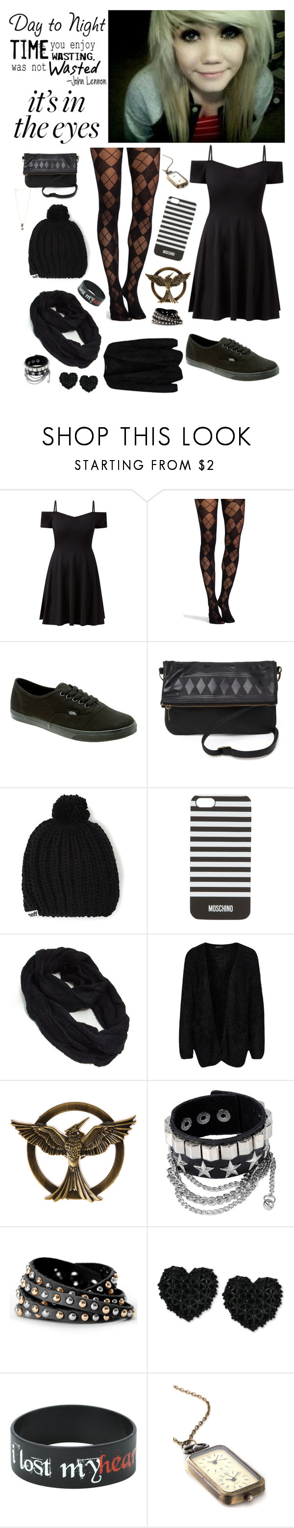 """""Bells found her mate?!?!"" - Tilly"" by nationalnerd ❤ liked on Polyvore featuring Pretty Polly, Vans, With Love From CA, Neff, Moschino, Rut&Circle and Betsey Johnson"