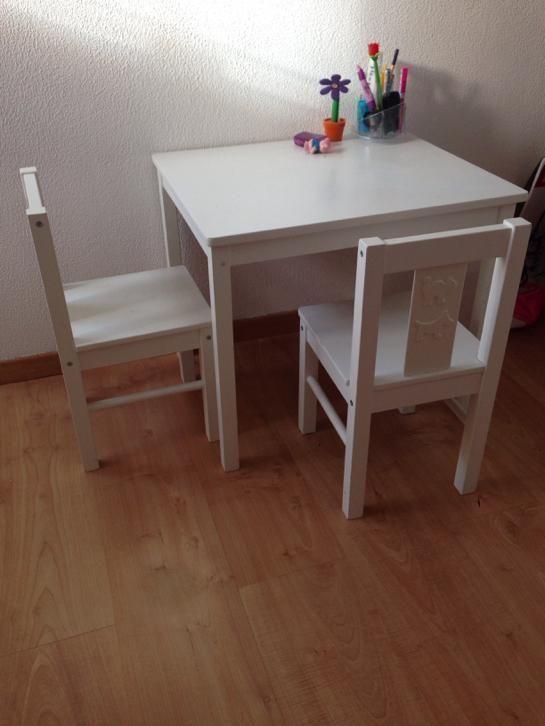 Kinderstoel En Tafel Set.Ikea Kritter Kinder Tafel En Twee Stoeltjes In 2019 Peuter