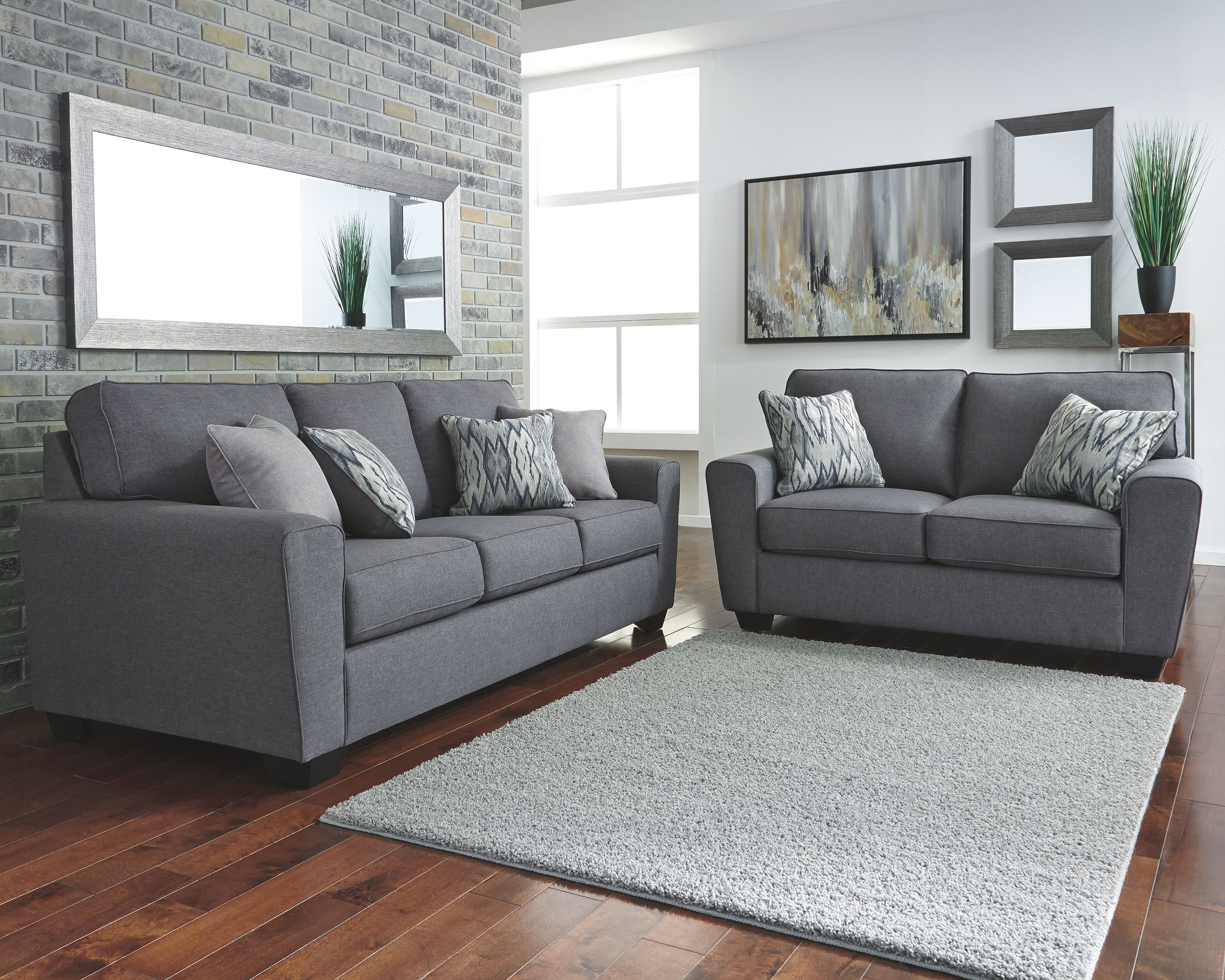 Best Calion Sofa And Loveseat Gunmetal In 2019 Grey Leather 400 x 300