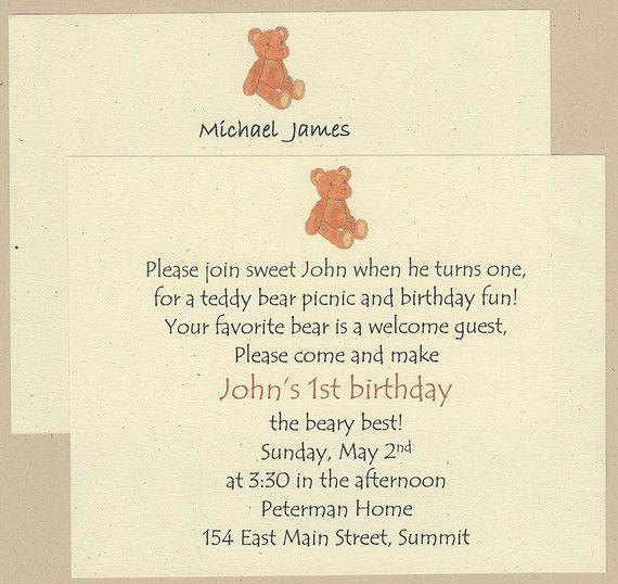 Teddy bear picnic birthday invitation wording teddy bears picnic teddy bear picnic birthday invitation wording stopboris Image collections